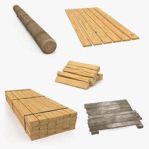 3D model wood 3