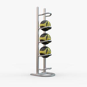 3D medicine ball rack