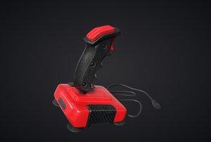 3D joystick pbr games model