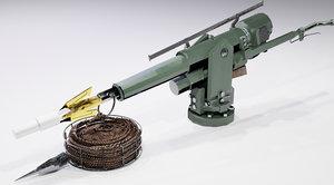 3D model ship harpoon