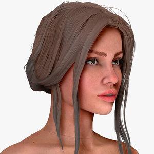 zbrush woman michelle 3D