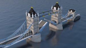 bridge print 3D model