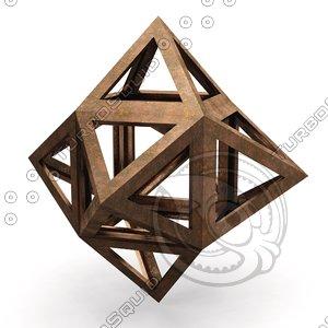 3D hexaedron cybos epirmenon