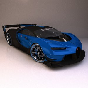 bugatti vision 3D model