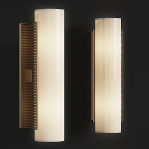 3D precision tube sconce -