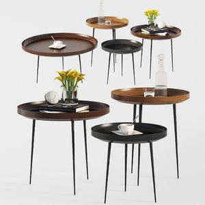 bowl coffee tables design 3D
