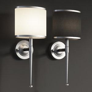 3D primo wall light polished chrome model