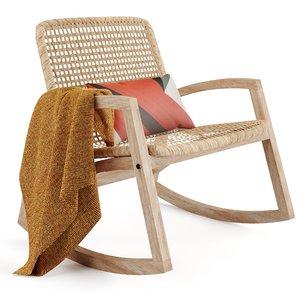 3D thana rocking chair model