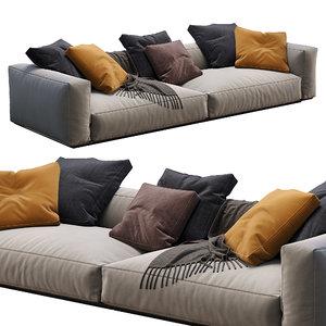 flexform sofa grandemare 3D model