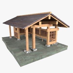 chinese tea house 3D model