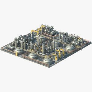 industrial area 3D model
