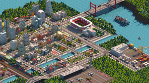 3D cartoon city pack model