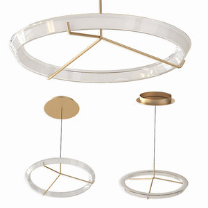 3D halo jewel pendant lamp model