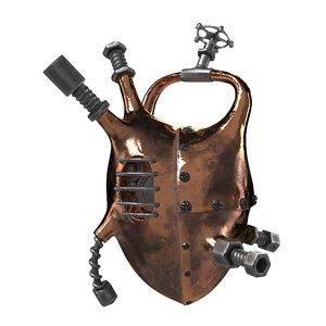 steampunk mechanical heart 3D model