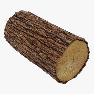 wooden log 02 3D