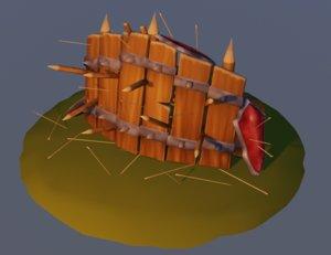 3D battle fence