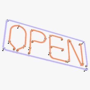3D neon open