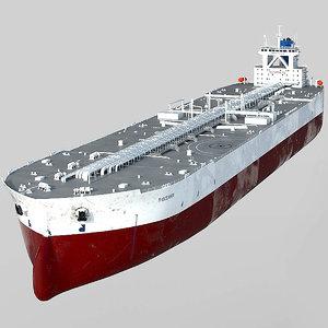3D model tanker oil ship