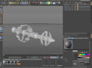 nave espacial 3D