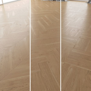 parquet oak natural brushed 3D