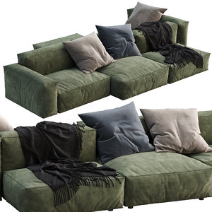 flexteam sofa reef 3D model
