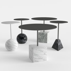 knockout lounge tables 3D model