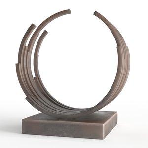 3D modern decorative abstract bronze