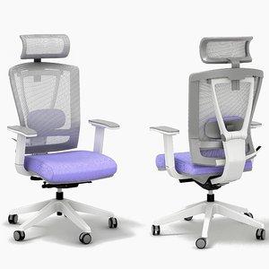 3D modern office chair seat model