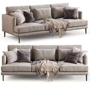 bonaldo sofa paraiso 3D model