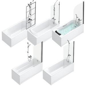 3D bath shower curtains villeroy