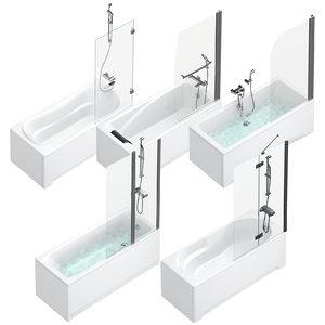 bath shower curtains villeroy 3D model