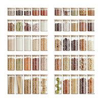 Minimalist Food Jars