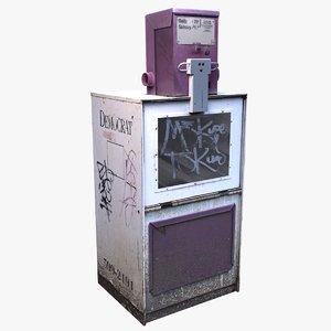 newspaper dispenser 3D model