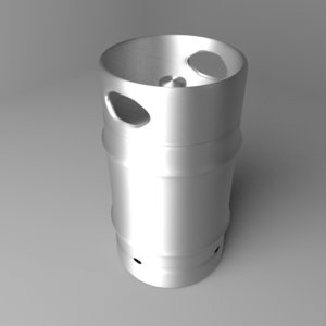 3D barrel steel 15 gallons model