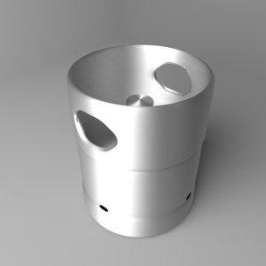 barrel steel 7 gallons 3D