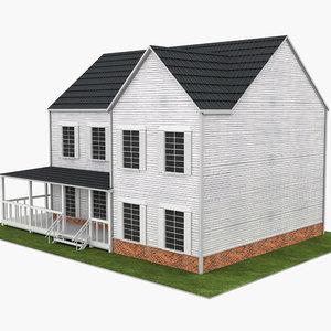 3D model house neighborhood