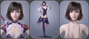 cg beautiful female character model
