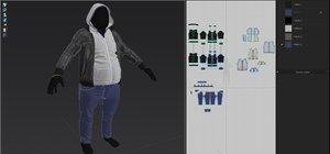 jacket pants sweatshirt 3D model