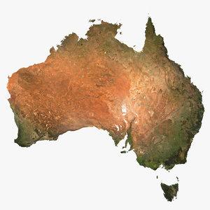 3d relief australia