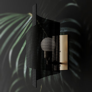 3D model wall blueprint lighting spun