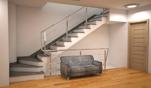 3D stairs sofa