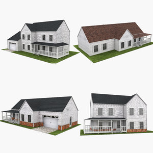 3D neighborhood houses 2 model