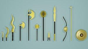 dagger weapon 3D model