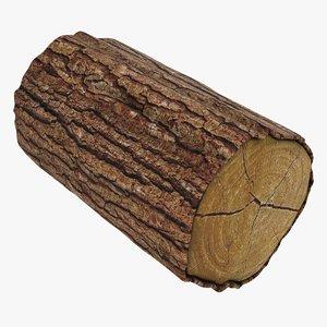 3D wooden log 03