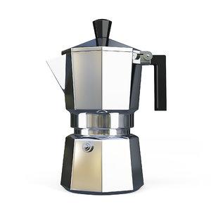 3D model metal coffee perlocator