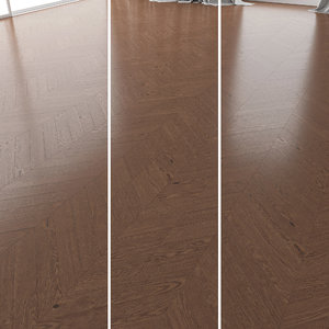 3D parquet oak walnut brushed