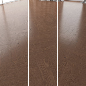 3D parquet oak walnut brushed model