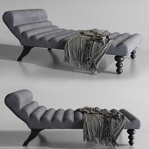 modern lazy chaise design furniture 3D model