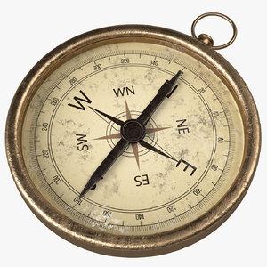 old vintage compass 3D model
