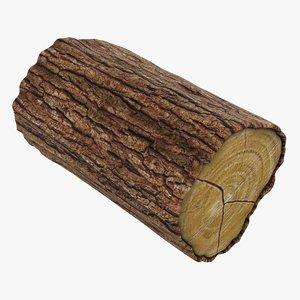 3D wooden log 05